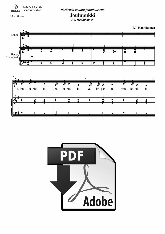 P. J. Hannikainen: Joulupukki, joulupukki (pdf) (joululaulu) | Bells verkkokauppa